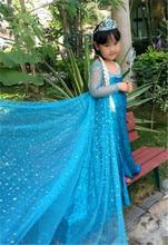 kids girls Fasion princess Ice Snow Queen Party Cosplay Elsa&Anna Dress  Adult Women Girls Cinderella Snow White