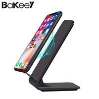 Bakeey A8 10 Вт быстрой зарядки QC2.0/3,0 Qi Беспроводной Настольный светодиодный Зарядное устройство Подставка для samsung S8 для iPhone 8 Plus