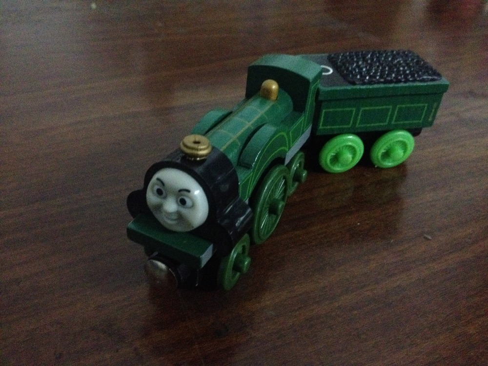 Emily Emily Tender 2pcs Thomas and His Friends Wooden Trains Model Great Kids Christmas font b