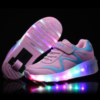Size 27 43 Children Tenis LED Sneakers Kids Light shoes Flame Buty Led Luminous Boys Girls Toddler led Sneakers Glowing Shoes