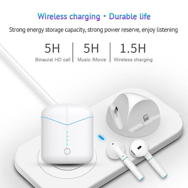 Bluetooth Earphone For P20 Wireless V5 0 Open Cover To Pop up Earbuds  Tangle free Earphones With Charging Case Headset