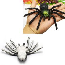 15cmx8cm Colorful TPR Simulation Big Spider Insects Model Toys Prank Tricky Scary Toys Halloween Props Children's Model Toys(China)