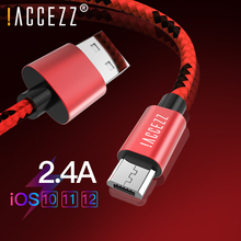!ACCEZZ Micro USB Charging Sync Cable For Xiaomi Redmi 4X 4A Samsung Galaxy S7 S6 Huawei Android Phone Fast Charger Line
