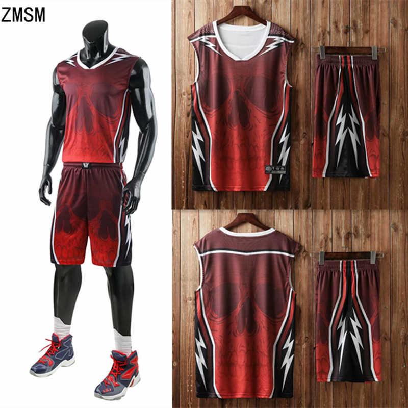 306c189b4f3 ZMSM Men throwback basketball jersey set blank Sport Clothing custom  basketball uniforms training Shirts Pockets Shorts