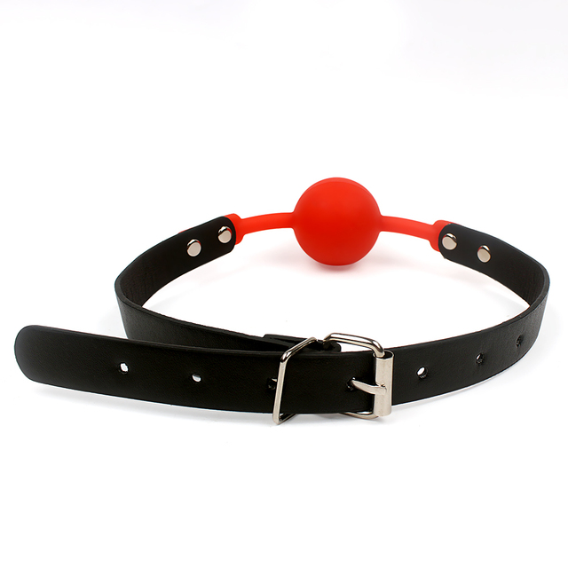 IKOKY PU Leather Band Mouth Gag Flirting Sex Toys for Couples Adult Game Silicone Ball Erotic Product Oral Fixation Sex Bondage