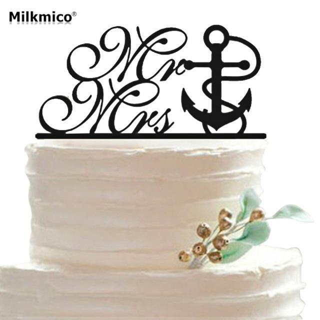 Mr Mrs Acrylic Cake Toppers Wedding Anniversary Cake Stand Picks