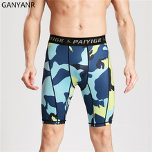 GANYANR Running Tights Men Yoga Pants Sports Fitness quick dry Basketball Compression Gym Athletic Leggings Shorts Camouflage ganyanr running tights men yoga basketball sports leggings fitness compression long pants bodybuilding gym jogging athletic sexy