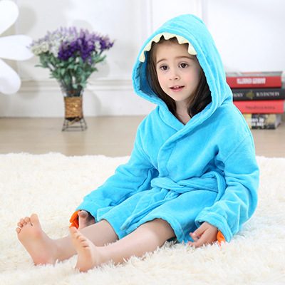 Cute Baby Bathrobes for Girls Pajamas Kids Dinosaur Hooded Beach Towel Boys  Bath Robe Pajamas Baby. sku  32927706720 a94d16351
