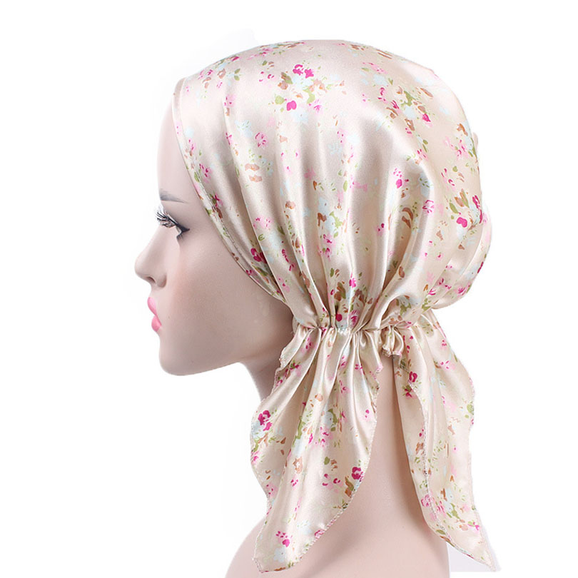 Haimeikang 2018 New Women Stain Scarf Cap Chemo Hat Summer Beanies Stretchy Turban   Headwear   for Cancer Patients Retro Indian Cap