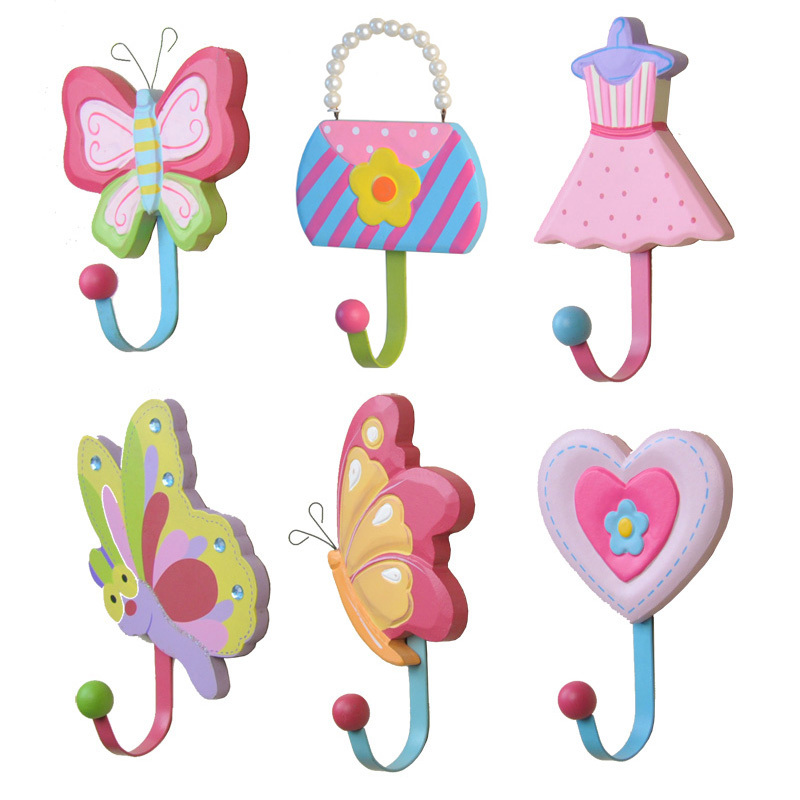 Korean Garden Wooden Coat Hooks Children S Creative