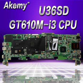 Akemy U36SD U36SG U44SG U44S U36KI241SD Laptop Motherboard For Asus (Board/Mainboard) With I3 CPU akemy x200la i3 4010 4gb ram mainboard rev2 1 for asus f200la f200l x200l x200la laptop motherboard 100