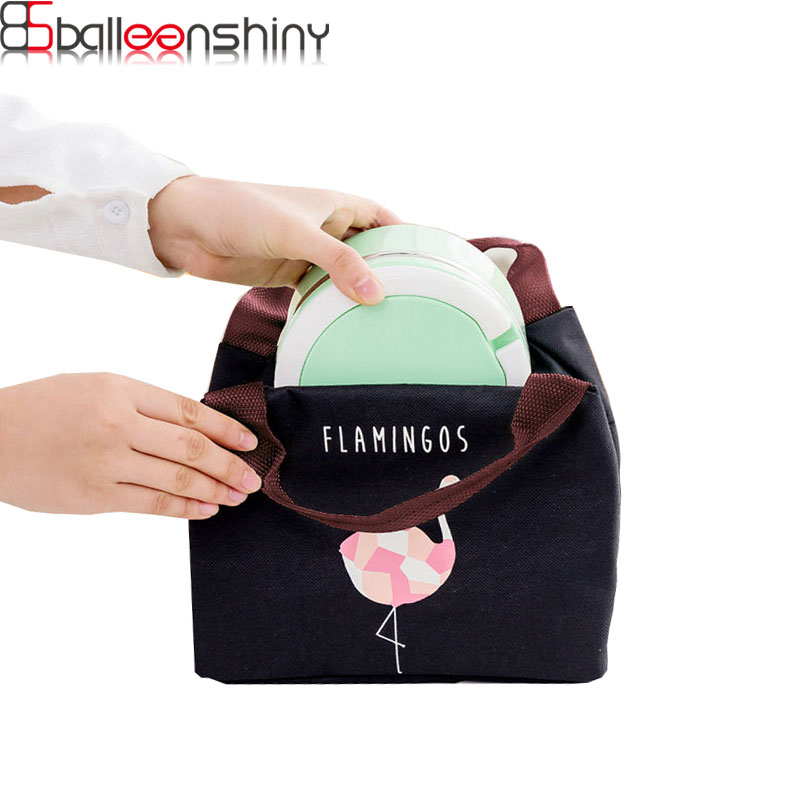 9b16eeb588 BalleenShiny Flamingo Insulated storage Bag Waterproof Take-out Bag  Zippered Multifunction Ice Pack E2M Picnic Lunch Bag