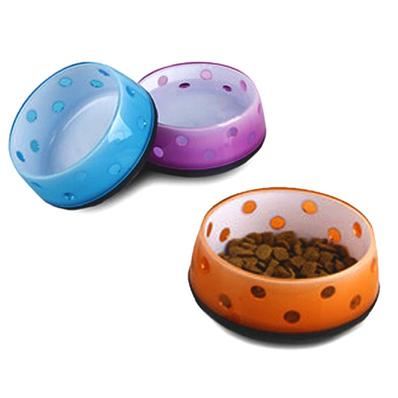Fashion Dog Feeding Bowl Cat Puppy Food Dish Pet Drink Water Bowl Colorful Wholesales