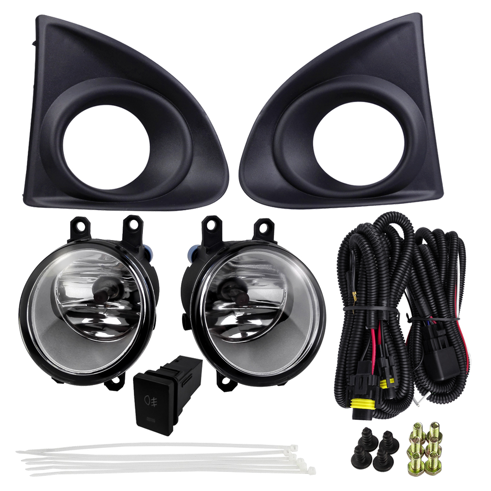 Front Fog lamps for Toyota AXIO 2013 Sets ABS 4300K Yellow 12V 55W Fog Light with Wires Harness Switch Automobile Accessories car accessories for nissan tiida latio 2005 2006 2007 2008 with wires harness switch fog light kits 12v 55w high power headlight