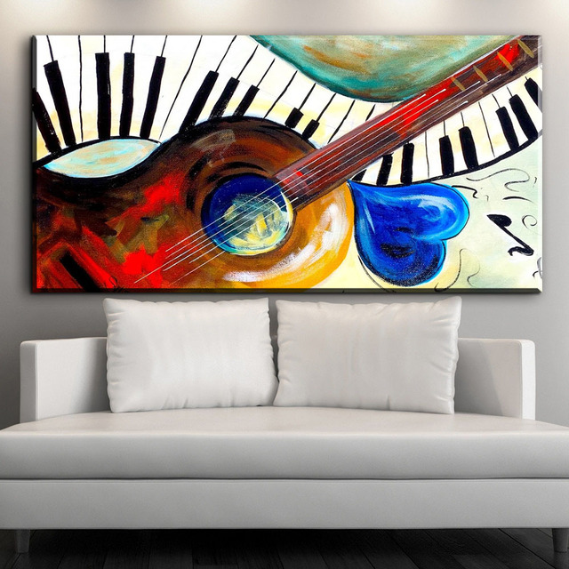 ZZ1048 música abstracta moderna arte colorido guitarra