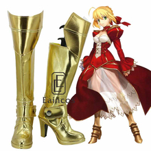 Anime Fate/Stay night Saber Nero Claudio Rojo Botas Zapatos de Fiesta Cosplay Por Encargo