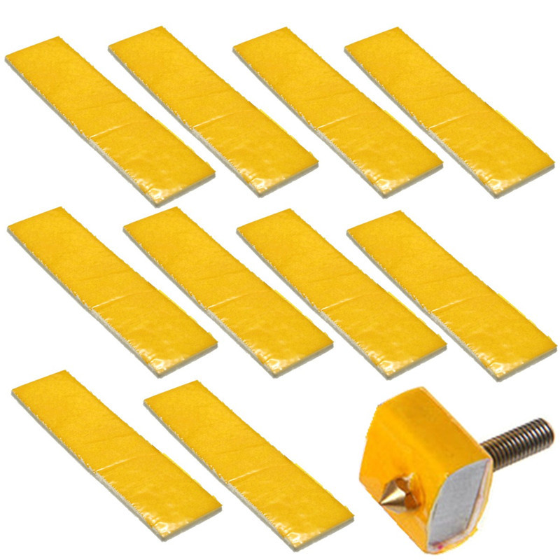 High Quality Low Price 10Pcs 2.5mm Thick 3D Printer Heating Block Cotton Hotend Nozzle Heat Insulation