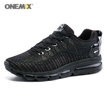 New 2017 air men running shoes sneakers lightweight colorful reflective mesh vamp Black Sneaker Air Cushion Athletic Trainer Man