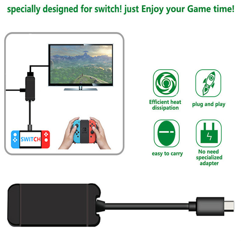 USB Type C Adapter For Nintend Switch Replacement Charging Dock USB 3 0 HD TV HDMI Converter Cable Transfer For NS Console in Stands from Consumer Electronics