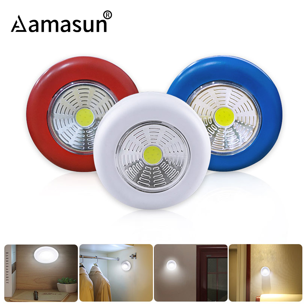 Us 1 59 30 Off 1pcs Cob Under Cabinet Lights Emergency Nightlight For Kitchen Drawer Closet Corridor Cabinet Stairs 3 Aaa Battery Luminaire In Under