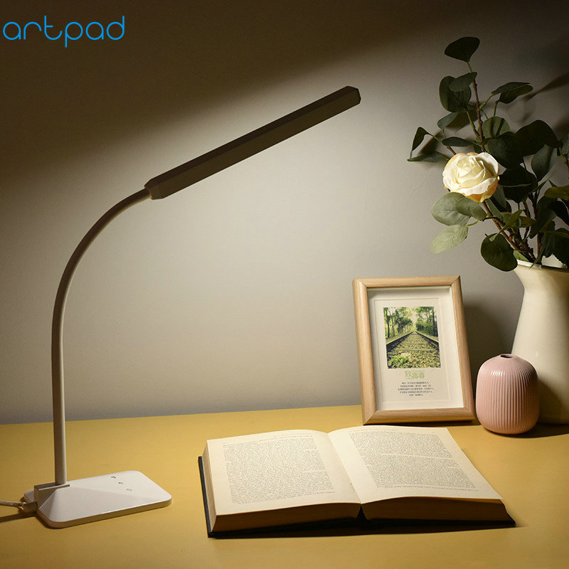 Artpad Modern To Japan High Qaulity 5W Reading Study Work Led Desk Lamp Eye Care Table Night Light Bedroom Bedside Reading modern 20w led table lamp bedroom reading desk light bedside lamp study eye protect us eu plug dimable