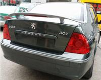 ABS PRIMER CAR REAR WING TRUNK LIP SPOILER FOR Peugeot 307 2009 2010 2011 2012 2013 (With LED LAMP)