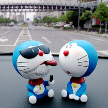 [LORDUPHOLD] Car Dashboard Ornament Decoration Very Cute Dolls Shake Head Cigar Cat Toys Smoke Styling Creative Birthday Gift