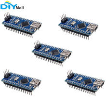 5pcs/lot USB Nano V3.0 ATmega328P CH340G Chip 5V 16M Micro Controller Board for Arduino 10pcs lot atmega328p atmega328p au qfp32 new
