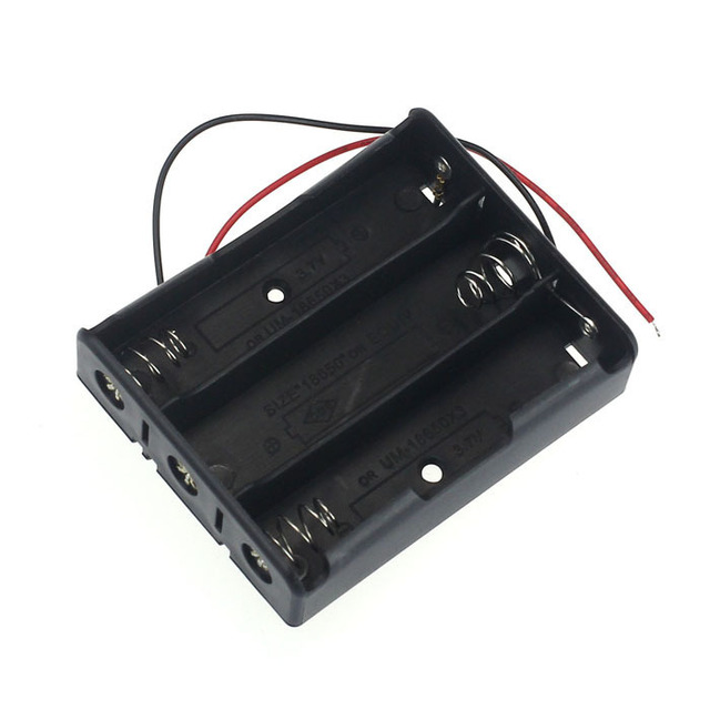 1pcs Plastic 3 Way 18650 Battery Storage Case Box Holder for 3x 18650 Batteries with Wire Leads