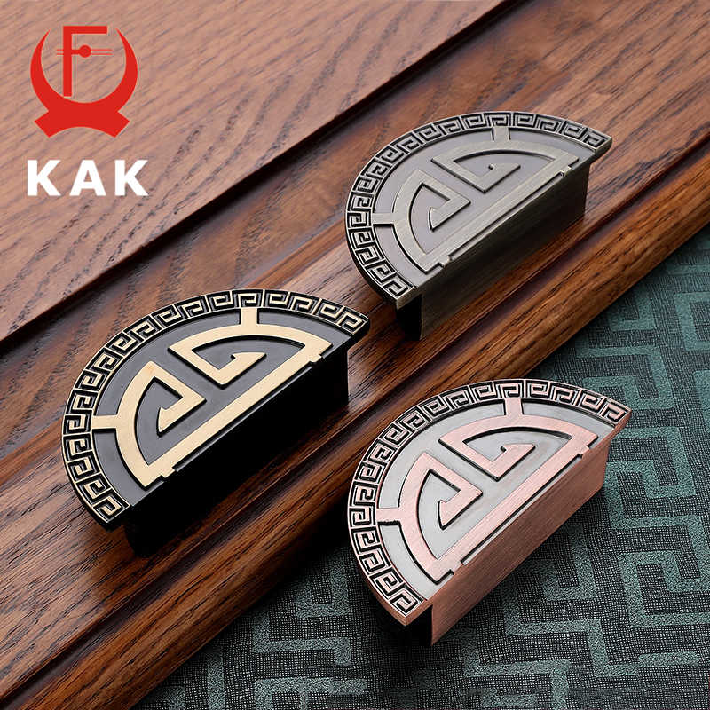 KAK Antique Bronze Cabinet Handles Black Kitchen Handles Drawer Pulls Cabinet Knobs Vintage Wine Cooler Handles Furniture Handle