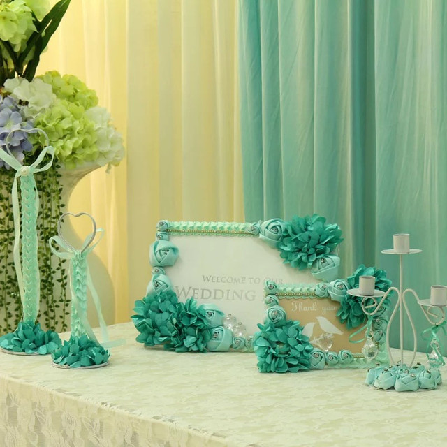 2016 creative wedding decoration table new welcome area platini 2016 creative wedding decoration table new welcome area platini blue four color company anniversary ornaments junglespirit Images
