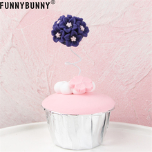 FUNNYBUNNY Cake decoration small flower ball inserts party supplies