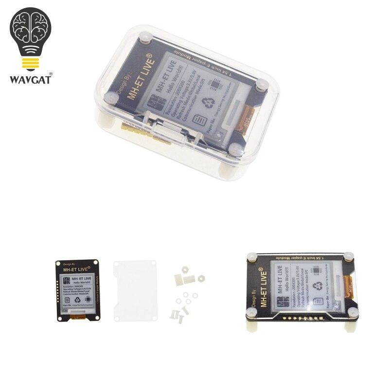 WAVGAT 1.54 pouce Épaper Module e-paper E-ink E Encre Affichage Écran SPI Soutien Partie Globale Pour Arduino UNO STM raspberry pi ESP32