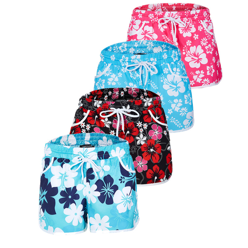 Women Summer New Floral Printed Casual   Shorts   Women Beach Hot Style   Short   Pants Bottom Pattern Fashion   Shorts