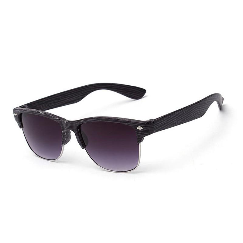 508f1fa6265a Retro Wood Sunglasses Women Men Bamboo Imitation Sun Glasses Half Frame  Rivet Eyewear UV400 Protect Oculos De Sol Masculino Fem