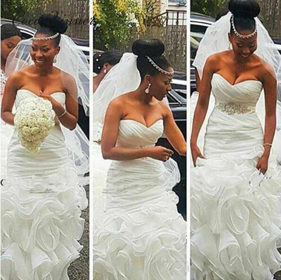 Schatz Elegante Meerjungfrau Hochzeit Kleider Falten Quaste Triered Rock Plus Grosse Gericht Zug Braut Kleider Hochzeit Kleider W0405 Wedding Dresses Aliexpress