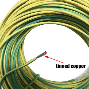 Image 4 - 10 メートルシリコン線アース線ソフト高温 UL3135 16/18/20AWG 黄色緑の 2 色錫メッキ銅ケーブル