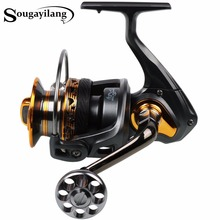 Sougayilang Spinning Fishing Reel Carp Fishing Full Metal Water Proof 13+1BB 4000-7000series Fishing Coil Reel Wheel De Pesca