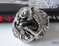 925 sterling silver Pisces gems vintage wealth Thai Silver Rings Star Stone