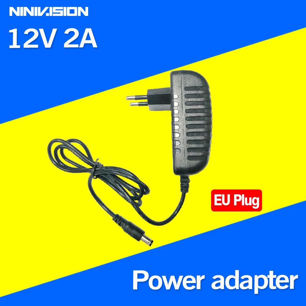 12V 2A DC 100V-240V AC power adapter smaller quality Plug In power supply Charger for CCTV LED   EU plug Free Shipping new adjustable dc 3 24v 2a adapter power supply motor speed controller with eu plug for electric hand drill