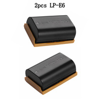 2PCS LP E6 LP E6 7 4V 2200mAh Rechargeable Lithium Battery For Canon EOS 5D2 5D3