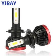 цена на YIRAY 2PCS Mini led H7 H4 LED Bulb Car Headlight H11 H1 H8 H9 H3 9005/HB3 9006/HB4 72W 10000LM 6500K 12v Auto Headlamp Fog Light