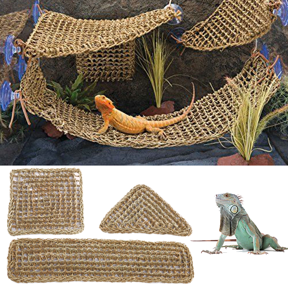 Seaweed Lizard Hammock Swing font b Pet b font Lounger Reptile Toy Hanging Bed Mat Small