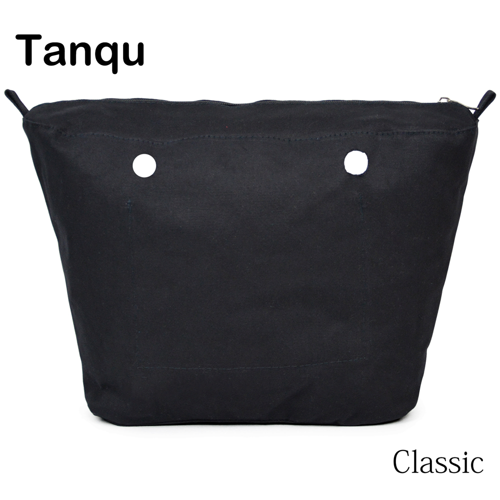 TANQU New Inner Lining Zipper Pocket For Classic Size Obag Super Advanced Insert With Inner Waterproof Coating For O Bag