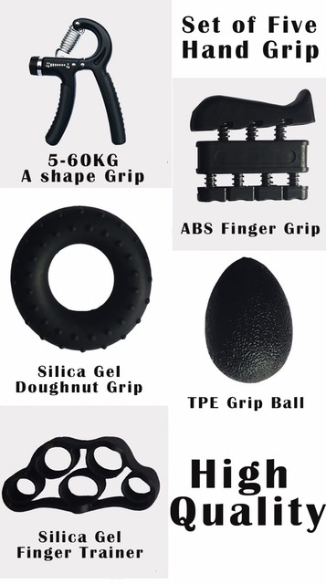 5 Pieces Hand Grip Trainer Set