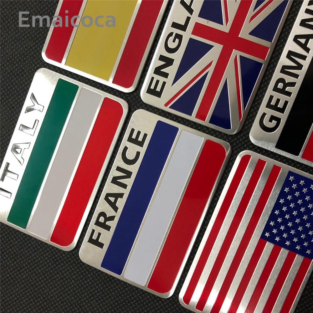 Emaicoca car-styling 3D Aluminum National Flag Case for Cadillac CTS XTS SRX ATS CT6 ESCALADE