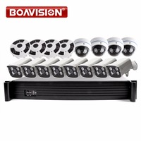 16CH POE NVR System Kit With 2MP 1080P Security Bullet Dome IP Camera Fisheye View 16