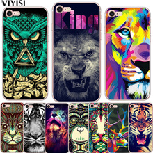 VIYISI For Apple iPhone7 8 X Case 5 5s 6 6s Plus Phone case Forest Animals Soft Silicone TPU Back Cover Coque Shell