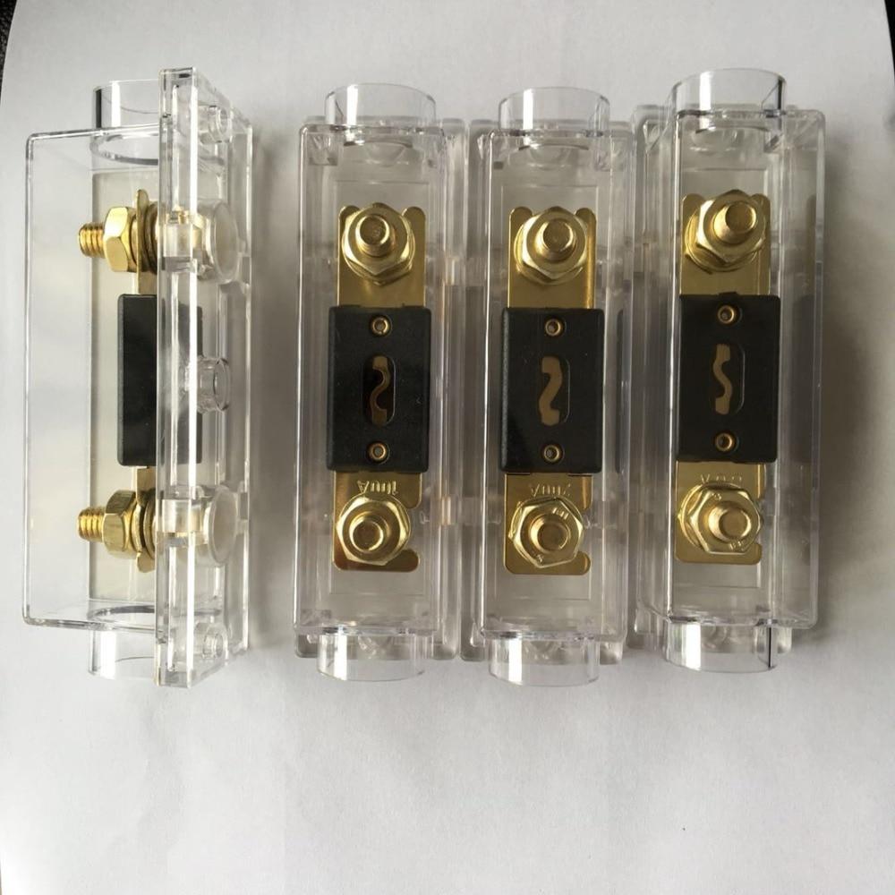 2pc High Quality Platinum 300A AMP Car Audio Marine Grade ANL Fuse LED Indicator