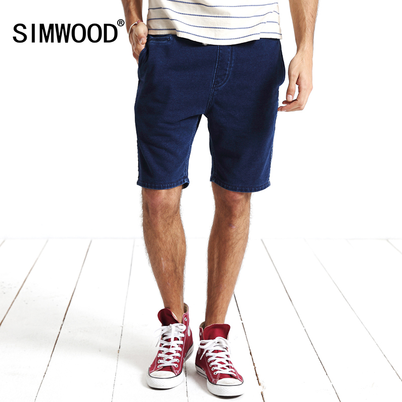 2016 SIMWOOD new summer causal jeans shorts denim trousers fashion joggers Beach shorts free shipping kw3004